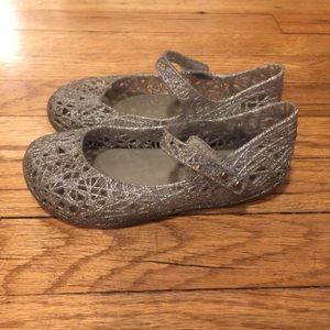 Mini Melissa + Compana silver shoes - sz 10